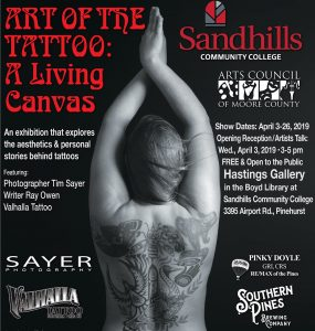 "Art Show: ""Art of the Tattoo"" @ Hastings Gallery at SCC's Boyd Library"