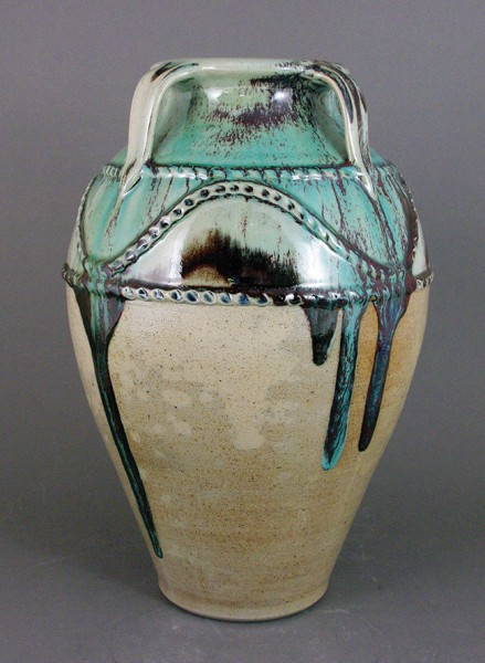 Four Handle Jar by Travis Owens, Jugtown Pottery