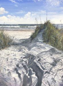 Photo of painting of beach scene